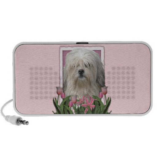 Mothers Day - Pink Tulips - Lowchen Mp3 Speakers