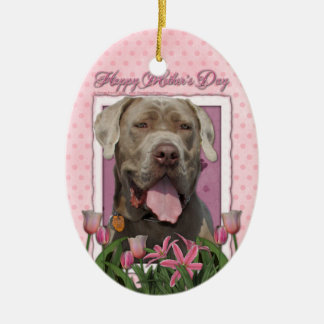Mothers Day - Pink Tulips - Mastiff - Snoop Ornament