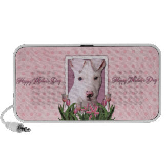 Mothers Day - Pink Tulips - Pitbull Puppy - Petey Travel Speaker