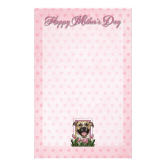 Mothers Day - Pink Tulips - Pitbull - Tigger Stationery Paper