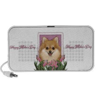 Mothers Day - Pink Tulips - Pomeranian Notebook Speaker