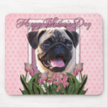 Mothers Day - Pink Tulips - Pug Mousemat