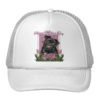 Mothers Day - Pink Tulips - Pug - Ruffy Hats