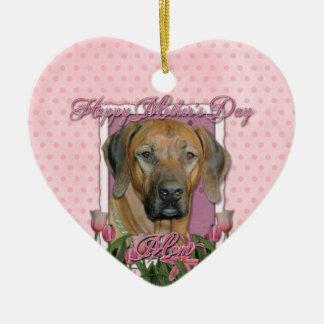 Mothers Day - Pink Tulips - Rhodesian Ridgeback Ornament