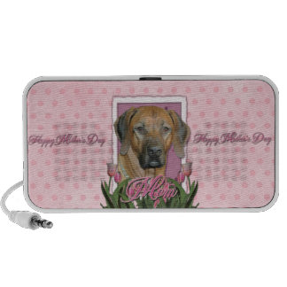 Mothers Day - Pink Tulips - Rhodesian Ridgeback iPhone Speaker