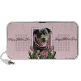 Mothers Day - Pink Tulips - Rottweiler - SambaParT Speaker System
