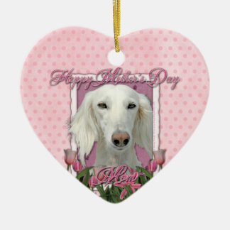 Mothers Day - Pink Tulips - Saluki Ornaments
