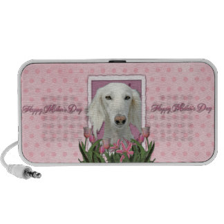 Mothers Day - Pink Tulips - Saluki Mp3 Speakers