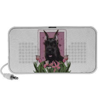Mothers Day - Pink Tulips - Schnauzer Travel Speaker