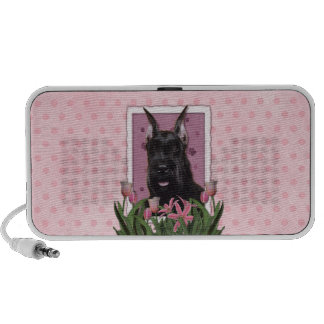 Mothers Day - Pink Tulips - Schnauzer Speakers