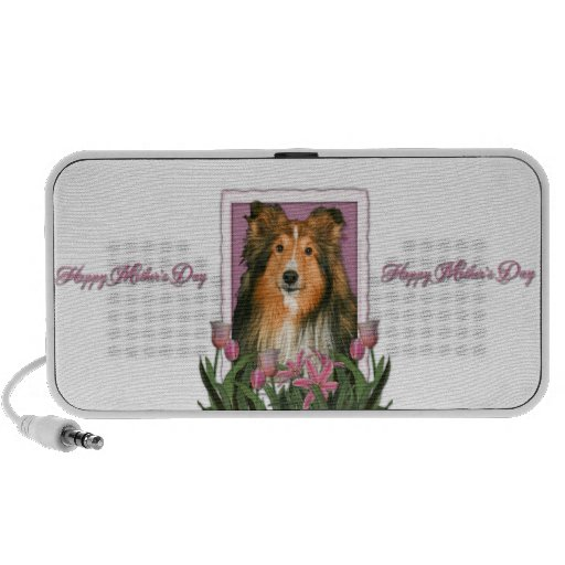 Mothers Day - Pink Tulips - Sheltie PC Speakers