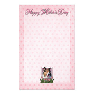 Mothers Day - Pink Tulips - Sheltie Stationery Paper