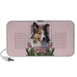 Mothers Day - Pink Tulips - Sheltie Travel Speaker