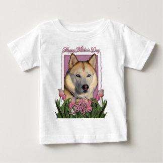 Mothers Day - Pink Tulips - Siberian Husky Tees