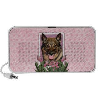 Mothers Day - Pink Tulips - Vallhund Mini Speakers