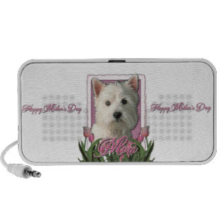 Mothers Day - Pink Tulips - Westie Portable Speakers