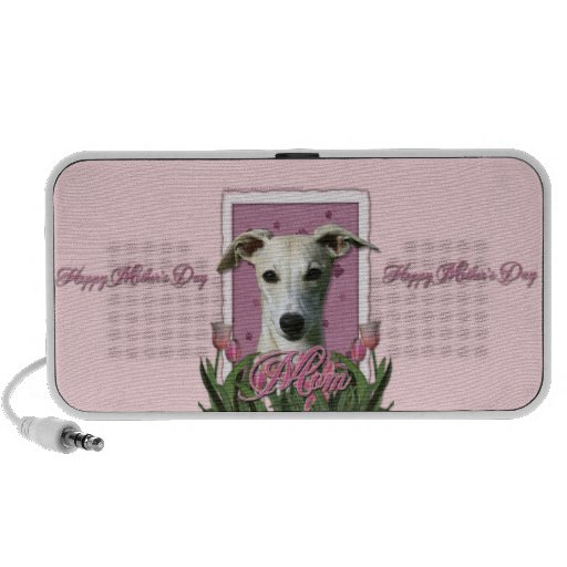 Mothers Day - Pink Tulips - Whippet Portable Speakers