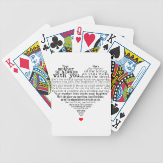 Mother's day poem bicycle playing cards