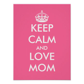 Mother's Day Poster | Keep calm and love mom