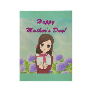 Mother's Day Present Wood Poster