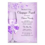 Mother's Day Pretty Lilac Rose Champagne Brunch 13 Cm X 18 Cm Invitation Card