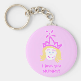 Mother's Day Princess keyring Basic Round Button Key Ring