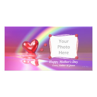 Mother's Day Rainbow Heart Picture Card