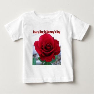 Mother's Day Red Rose Baby T-Shirt