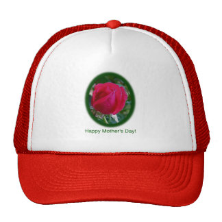 Mother's Day Red Rose Cards & Gifts Mesh Hat