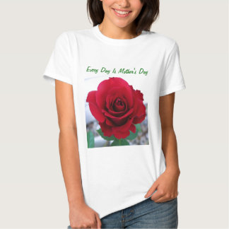 Mother's Day Red Rose Tee Shirt