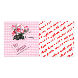 Mother's Day Roses For Mom (Checkered) Photo Cards