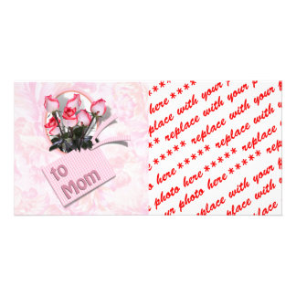 Mother's Day Roses For Mom (Floral Background) Photo Cards