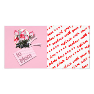Mother's Day Roses For Mom (Pink Background) Photo Card