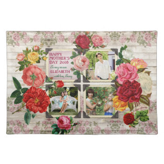 Mother's Day Roses Instagram Vintage Photo Collage Placemat