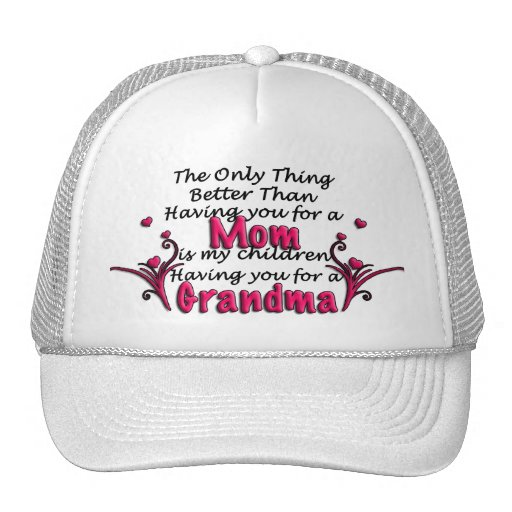 Mothers Day Saying Mesh Hat