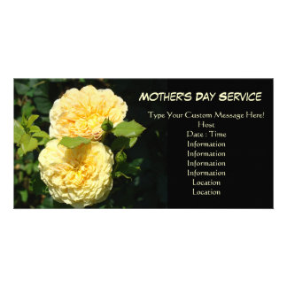 Mother's Day Service Event Annoucements Rose Photo Cards