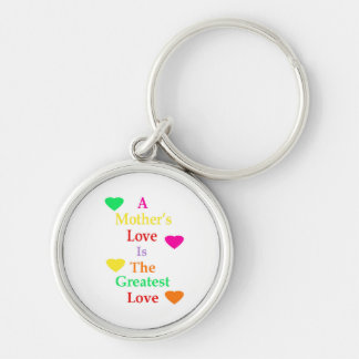 Mother's Day Silver-Colored Round Key Ring