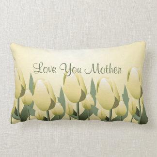 Mothers Day Spring Tulips Love Mum Yellow Lumbar Lumbar Pillow