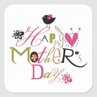 Mother's Day Square Sticker