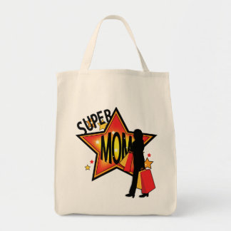 Mother's Day Star Mom Shopper Tote Bag Grocery Tote Bag