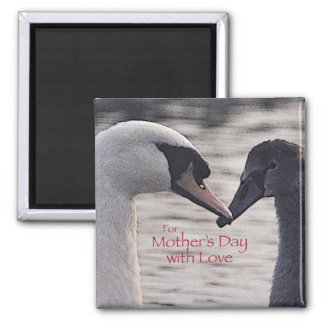 Mother's Day swan magnet