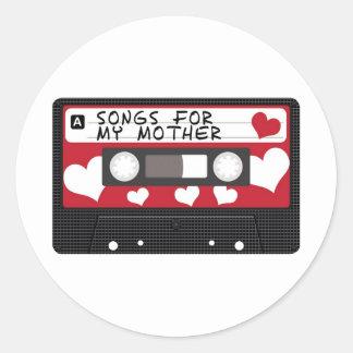 Mothers Day Tape Round Sticker