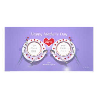 Mother's Day Tea for Two Customised Photo Card