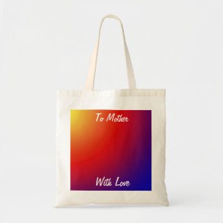 Mother's Day/Teacher Canvas Bag, Vivid Rainbow Budget Tote Bag