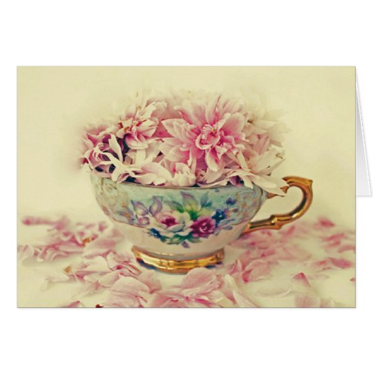 Mothers Day Teacup of Flowers Card