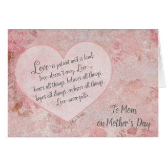 Mother's Day to Mum Scripture 1 Cor 13 Card