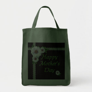 Mother's Day Tote Zinnias Canvas Bag