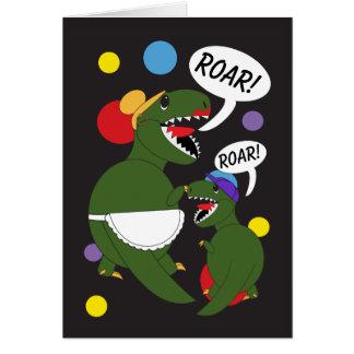 Mothers Day Tyrannosaurus Rex Dinosaur Personalize Card