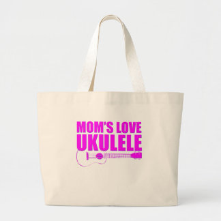 mother's day ukulele large tote bag