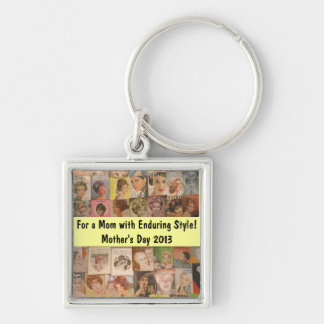 Mother's Day Vintage Hair Collage Key Chain